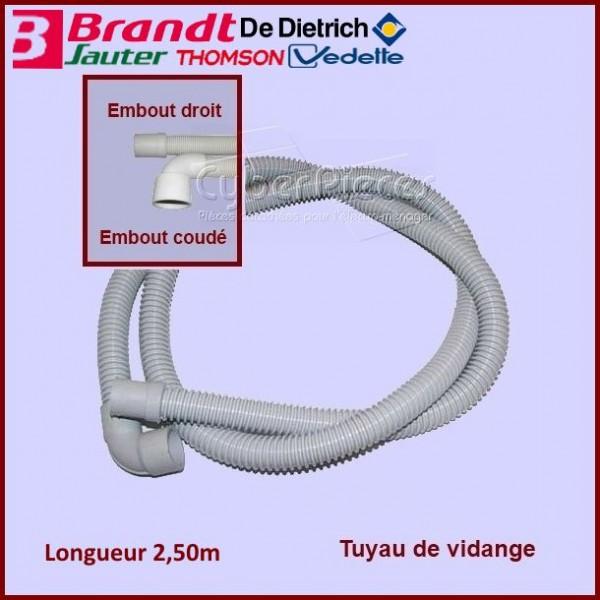 Tuyau de vidange coudé 2,50m Brandt 51S7919