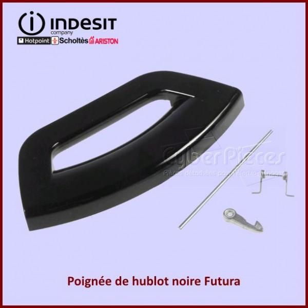 Poignee de hublot complète Indesit C00287267