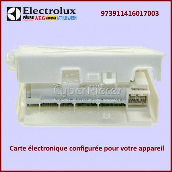 Module électronique configuré EDW1X Electrolux 973911416017003
