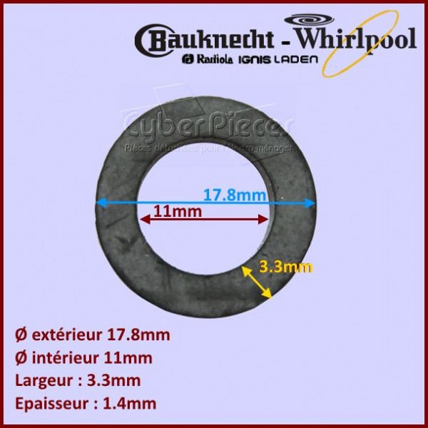 Joint 17,8x11x3.3x1,4mm Whirlpool 481953258159