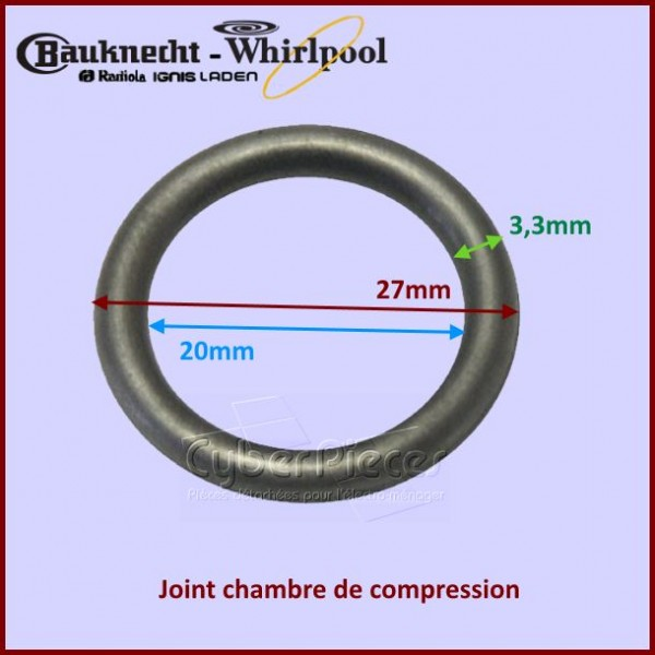Joint torique 27x20x3,3mm  Whirlpool 481953058026