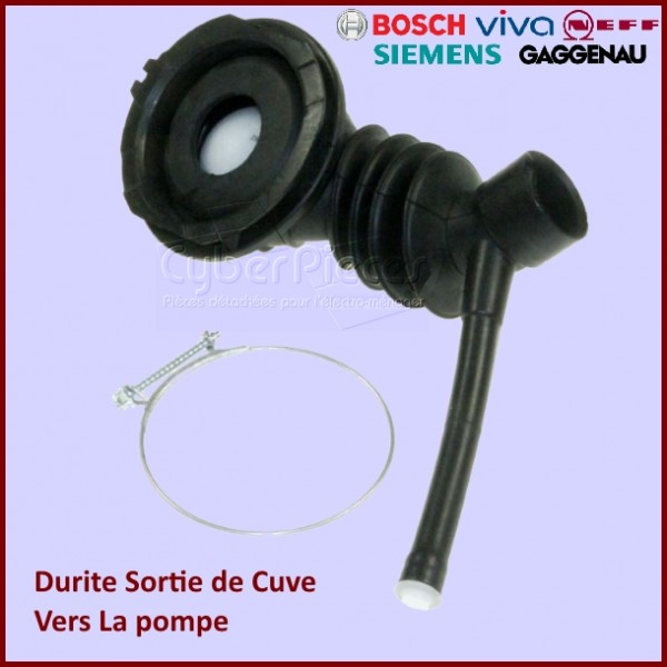 Durite cuve vers pompe Bosch 00757704