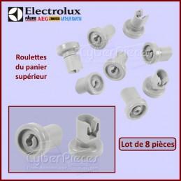 Jeu de 8 roulettes supérieures grises Electrolux 50286967000 CYB-089357