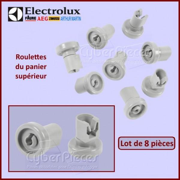 Jeu de 8 roulettes supérieures grises Electrolux 50286967000
