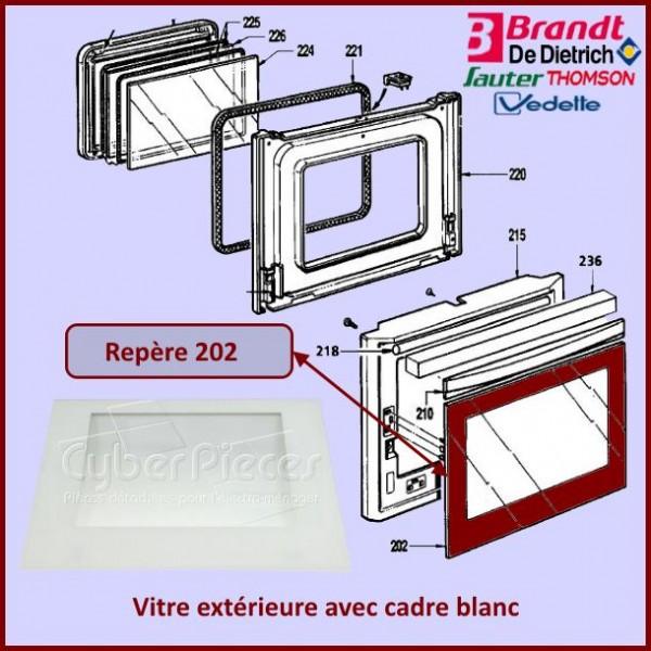 Vitre extérieure Brandt 75X7903