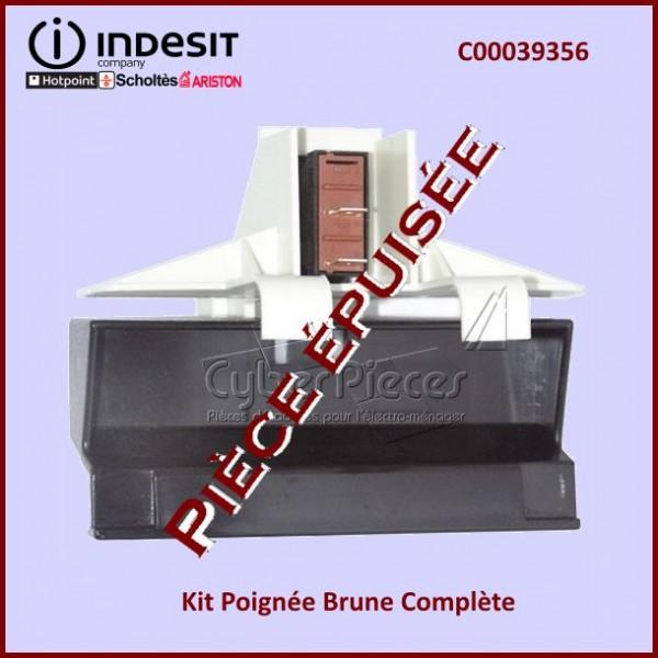 Kit Poignée Brune Indesit C00039356***Pièce remplacée***