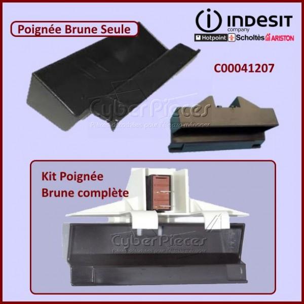 Poignée Brune Seule Indesit C00041207