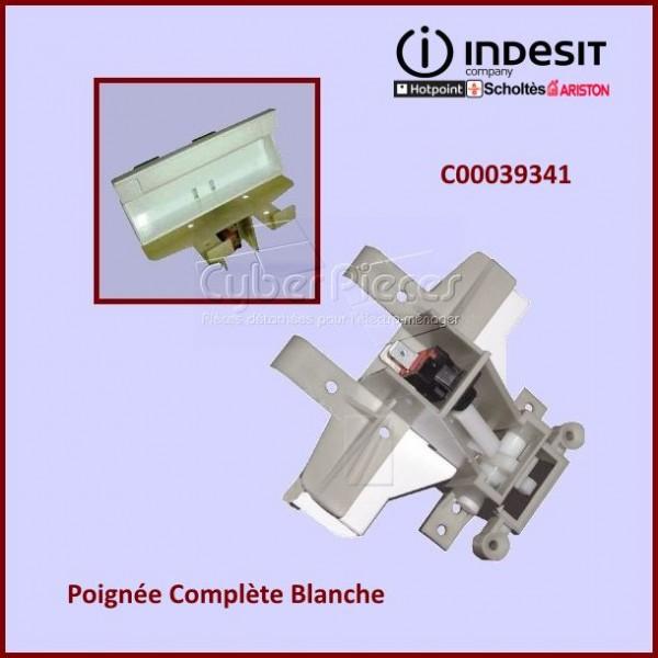 Poignée Complète Blanche Indesit C00039341