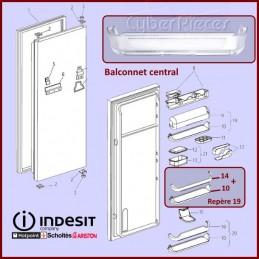 Balconnet intermediaire Indesit C00145319 CYB-340304