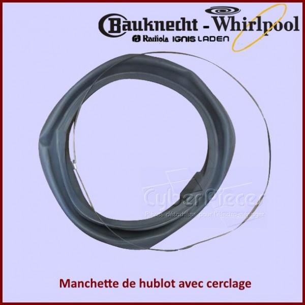 Manchette de hublot Whirlpool 481231018865