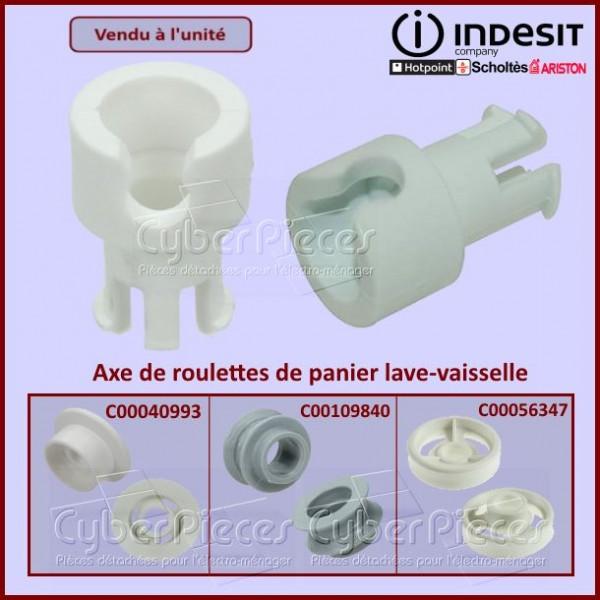 Axe de roulette de panier Indesit C00104638