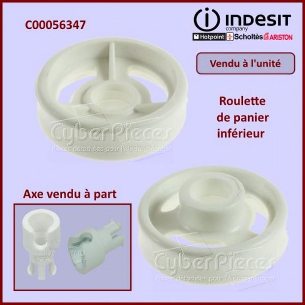 Roulette de panier inférieur Indesit C00056347