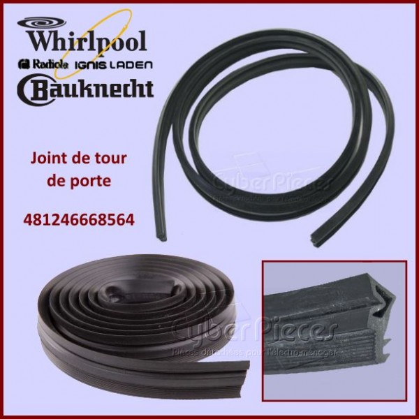 Joint de tour de porte Whirlpool 481246668564