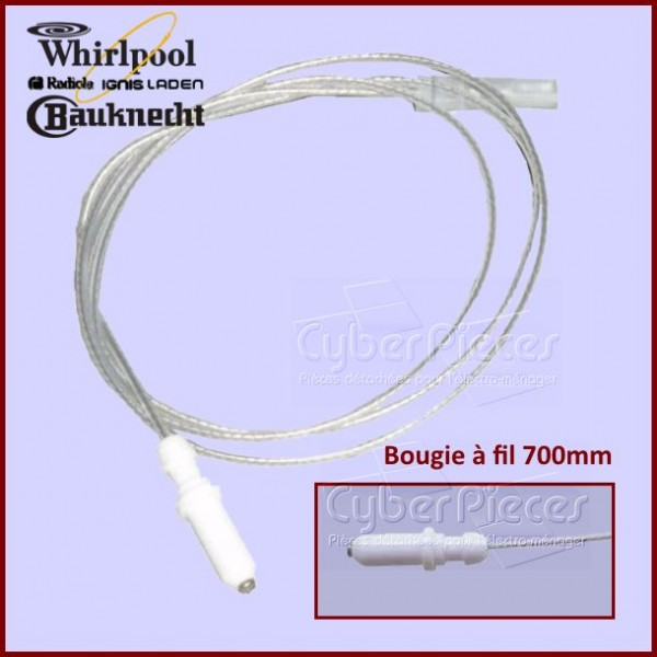 Bougie avec Cable Whirlpool 481985023108