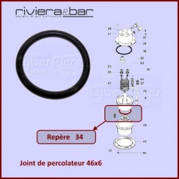 Joint percolateur 46x6...
