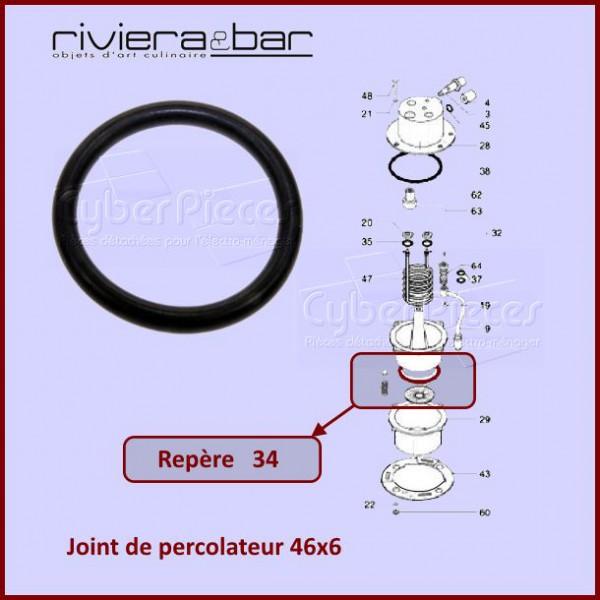 782fa5f044edb9 Joint percolateur 46x6 Riviera bar 500588082 pour Cafetieres Petit ...