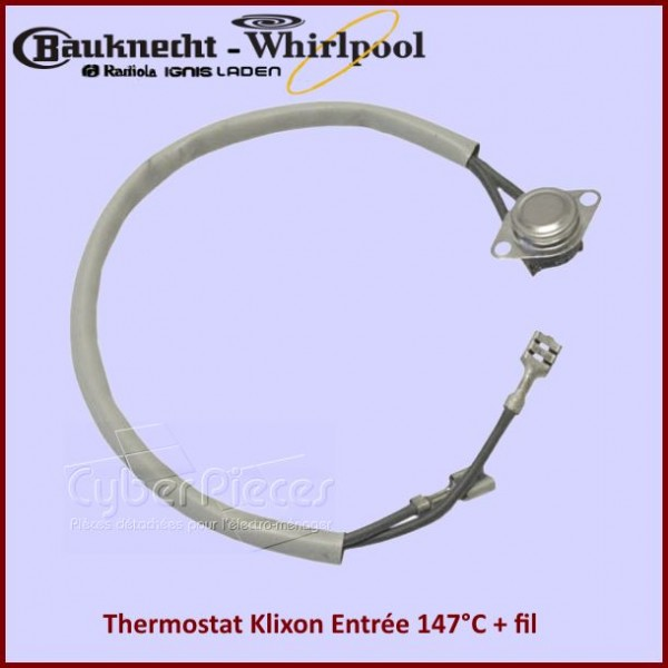 Thermostat Klixon 147 degres  whirlpool 481928248046