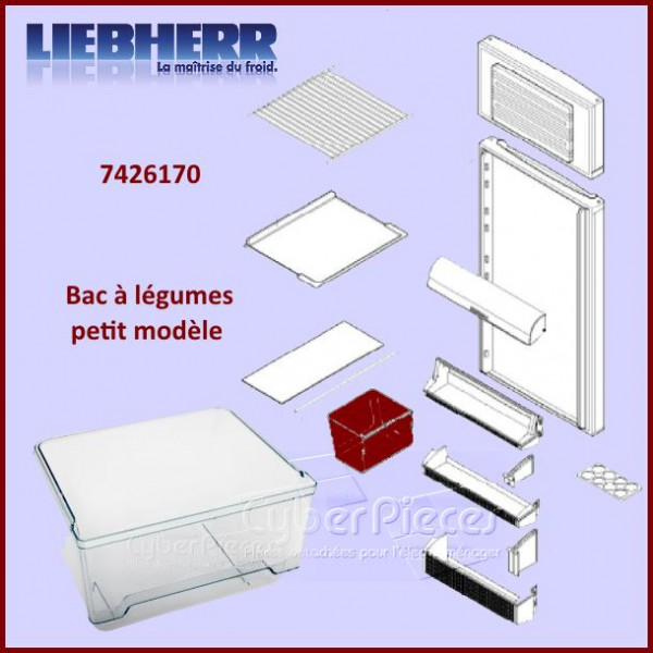bac l gumes petit mod le liebherr 7426170 pour bacs a legumes paniers tiroirs. Black Bedroom Furniture Sets. Home Design Ideas