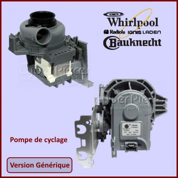 Pompe de cyclage Adaptable Whirlpool 481010625628