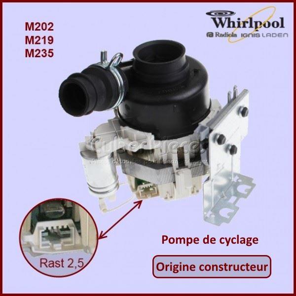 Pompe de cyclage Origine Whirlpool 481010625628