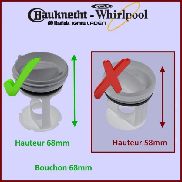 bouchon filtre whirlpool 484000000966 pour filtres et bouchons machine a laver lavage pieces. Black Bedroom Furniture Sets. Home Design Ideas