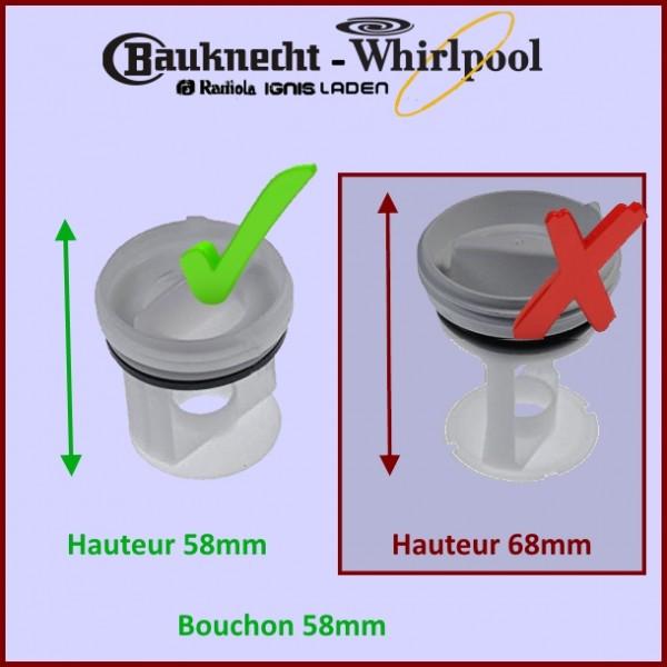 Bouchon Filtre 481248058403 Whirlpool