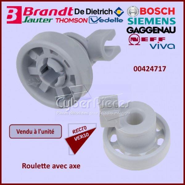 Roulette + Axe pour panier Supérieur Bosch 00424717