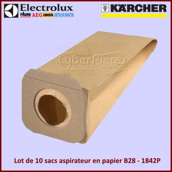 Sacs aspirateur en papier B28 - Lot de 10 pieces
