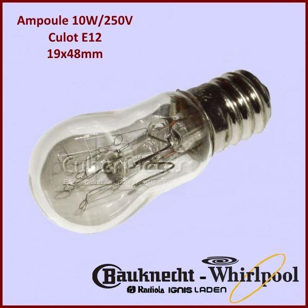 Ampoule poire 19X48mm - 10W E12 250V