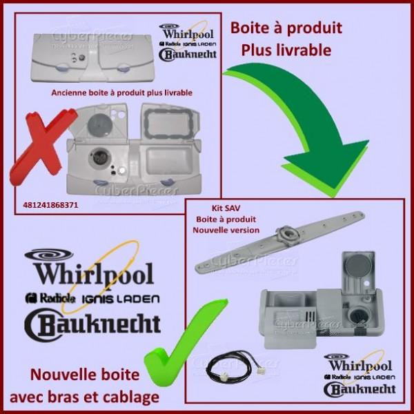 Boite à produit (nouvelle version) Whirlpool 480131000162