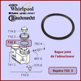 Bague joint de l'adoucisseur Whirlpool 480140100416 CYB-139618
