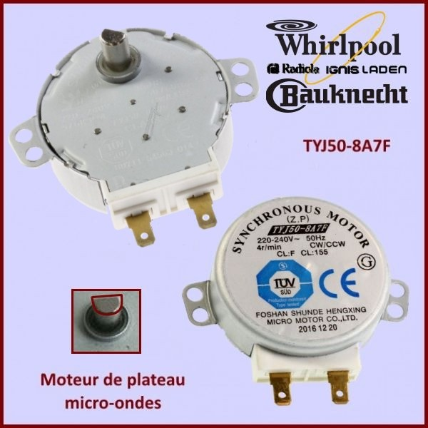 Moteur TYJ50-8A7F Whirlpool 481236158449 - 481236158419