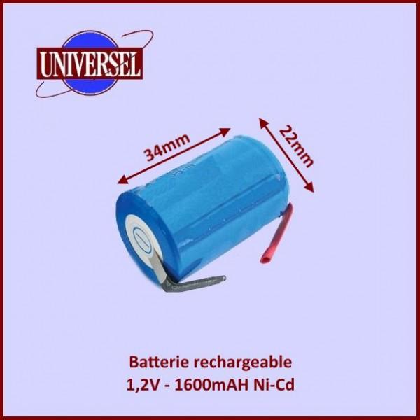 Batterie rechargeable 1,2V 1600mAH à souder