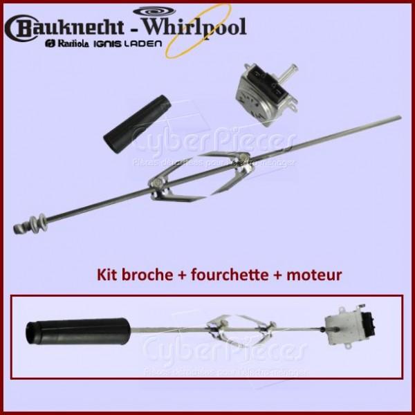 Kit broche + fourchette + moteur Whirlpool  480131000139