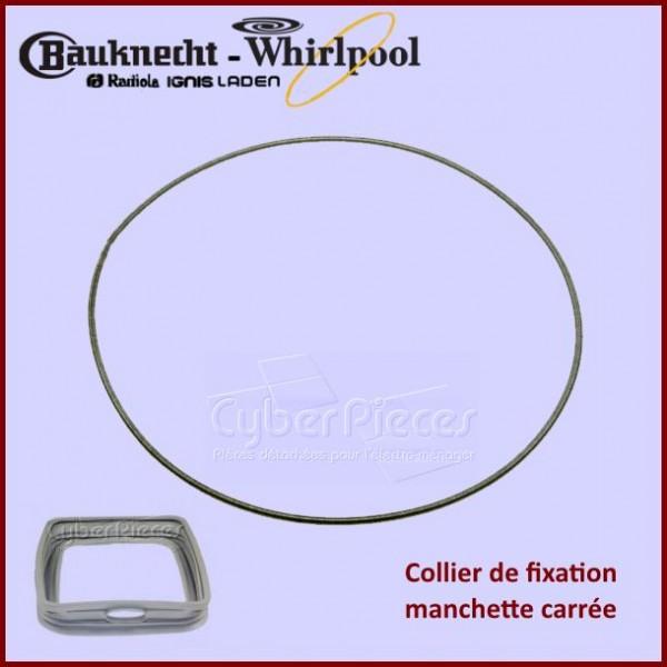 Collier de fixation manchette Whirlpool 480111100817