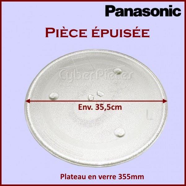 Plateau en verre 355mm Panasonic A06014000AP