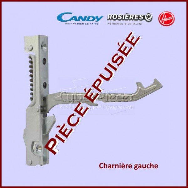 Charnière gauche Candy 93771533***Pièce epuisee***