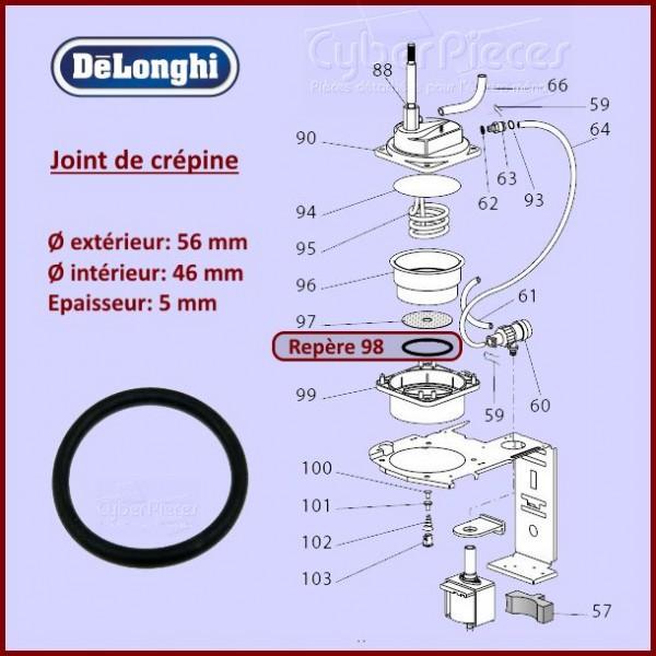 Joint de crepine Delonghi 533218