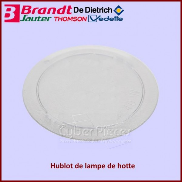 Hublot de lampe de hotte Brandt 74X6762