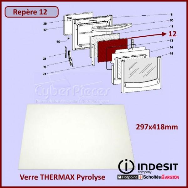 Verre THERMAX Pyrolyse Indesit C00138860