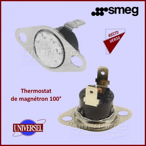 Klixon universel sécurité de magnetron 100°