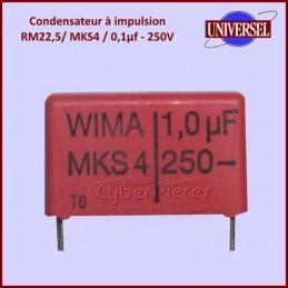 Condensateur à impulsion 1,0µF (1,0mF) - 250V maxi. MKS4 CYB-040327