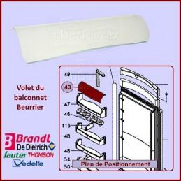 Couvercle de Balconnet Brandt F98H002E9 CYB-059985