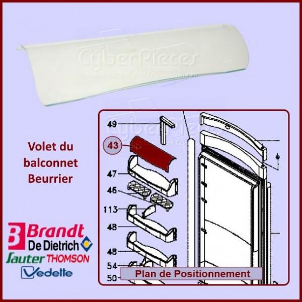 Couvercle de Balconnet Brandt F98H002E9