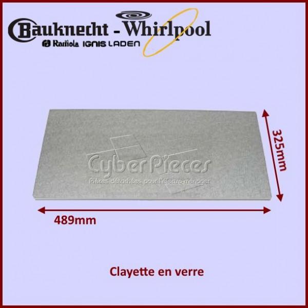 Clayette en verre 489x325mm Whirlpool 481990305726