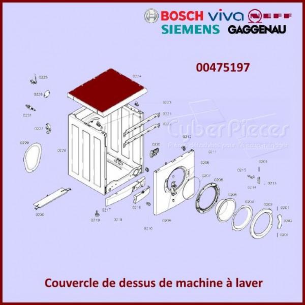 Couvercle de dessus Bosch-Siemens 00475197