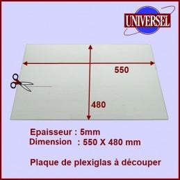 Plaque en Plexiglas 550X480X5MM CYB-146883