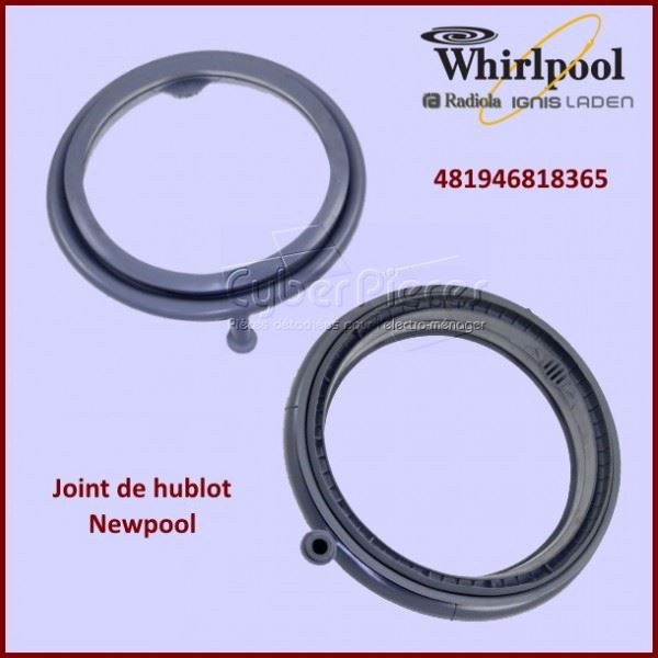 joint de hublot whirlpool 481946818365 pour manchette joint de hublot machine a laver lavage. Black Bedroom Furniture Sets. Home Design Ideas
