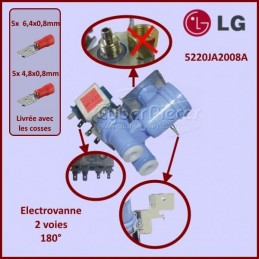 Électrovanne 2 voies - 180° LG 5220JA2008A GA-090070
