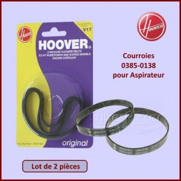 Lot de 2 courroies Hoover 09161985 CYB-051965